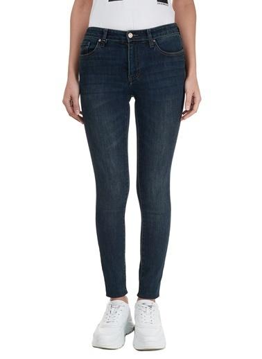 Armani Exchange  Skinny Pamuklu J69 Jeans Kadın Kot Pantolon 6Hyj69 Y2Rez 1500 Lacivert